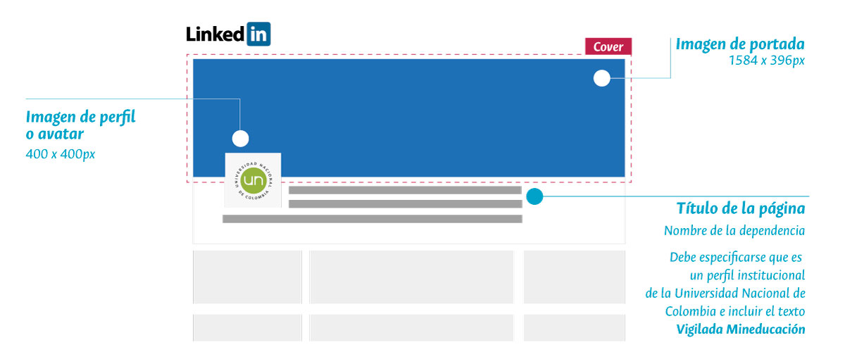Tamaños imágenes Linkedin