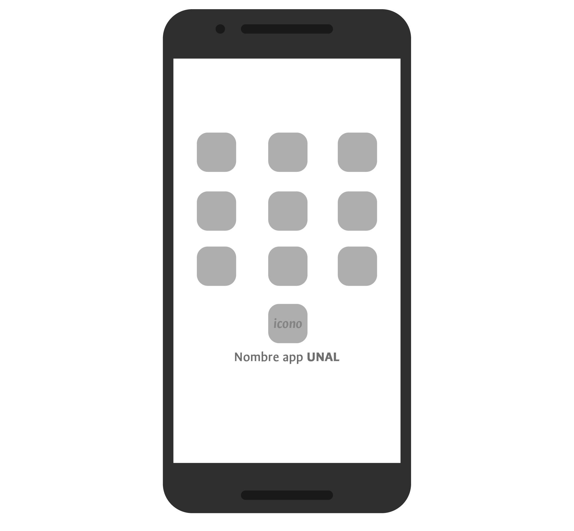 Manejo del nombre de la app con UNAL e ícono