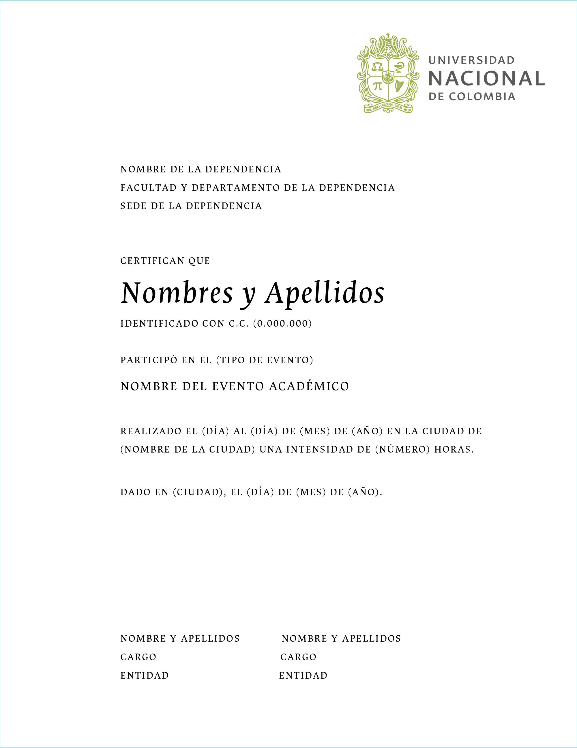 Modelo para certificados
