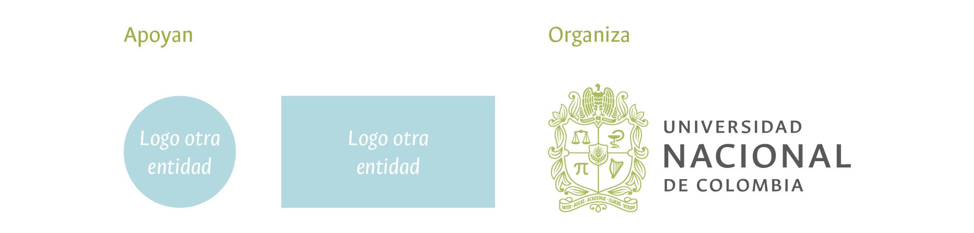 Modelo de aplicación del logosímbolo en co-branding.