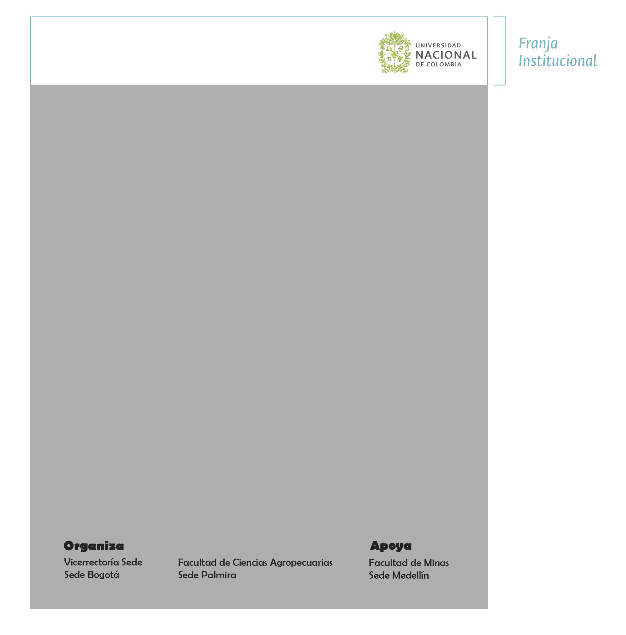 Ejemplo 3  Manejo de créditos dentro del área editable y franja institucional superior