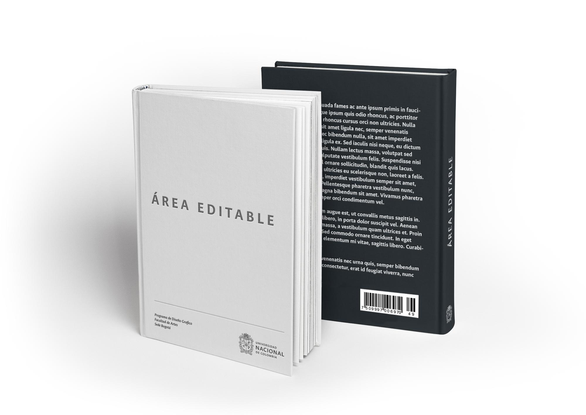 Ejemplo de aplicación en portada y lomo para Libros, Revistas y Cartillas.