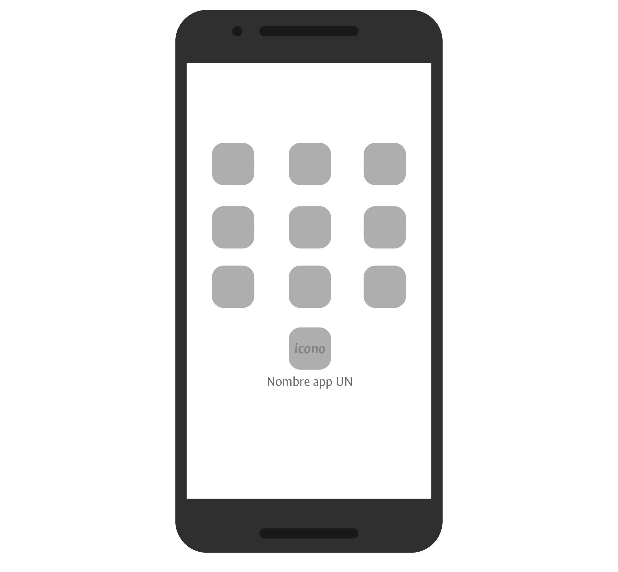 Manejo del nombre de la app con el UN en el icono
