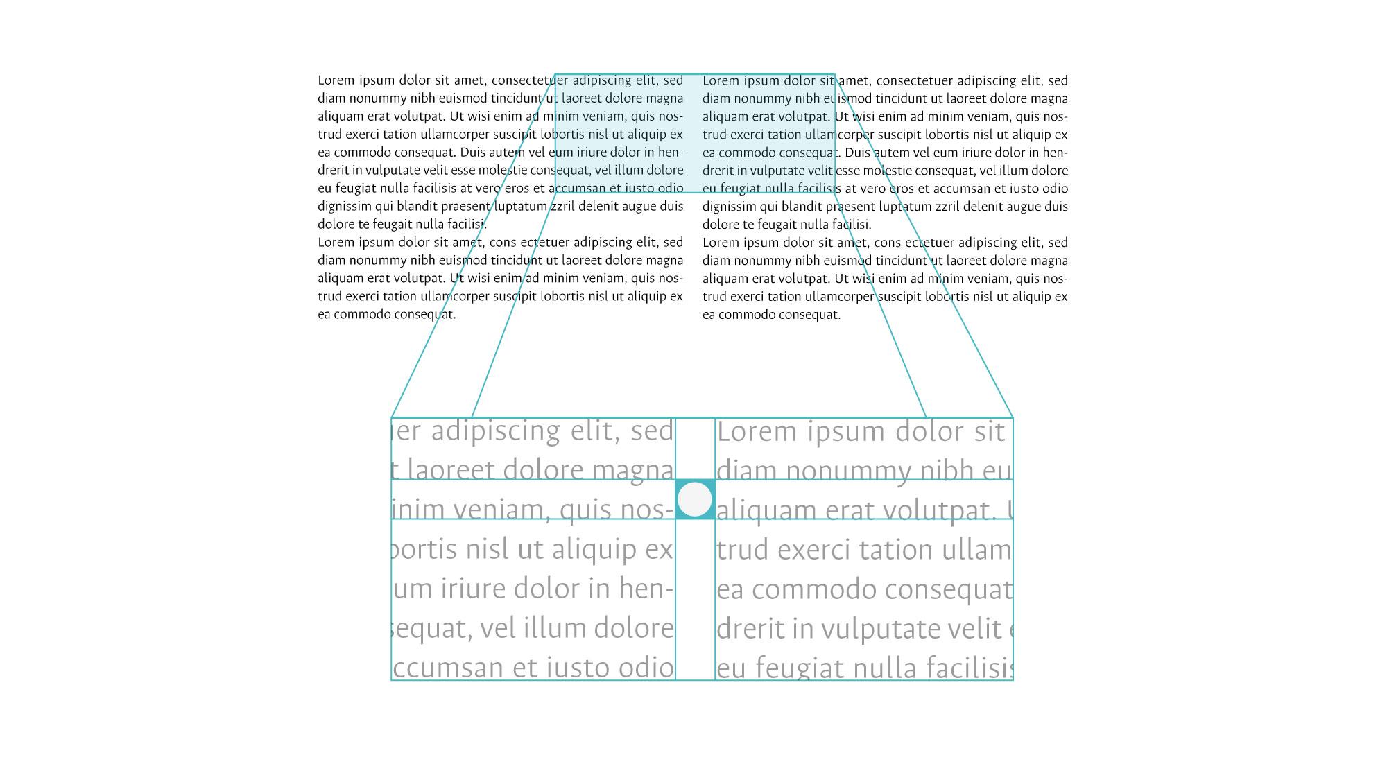 Espacio entre columnas en texto corrido partiendo del valor de la interlínea